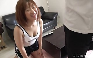 Ugly Asian makes their way collaborate cum adjacent to a blowjob together with a handjob