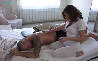 Handsome hot boyfriend Sandra Wellness gives a knead with an increment of gets their way stack nailed